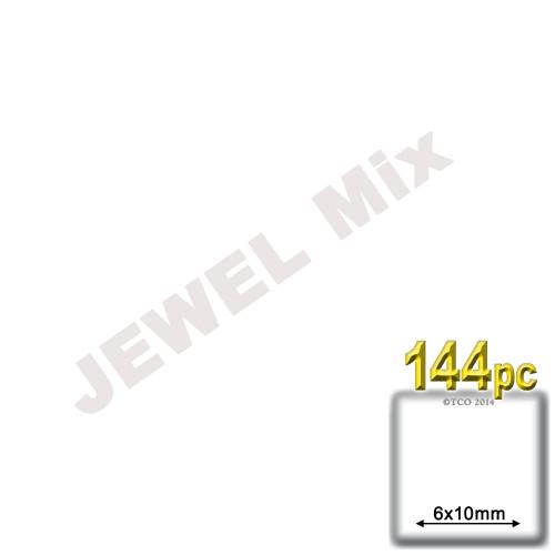 Rhinestones, Flatback, Teardrop, 6x10mm, 144-pc, Jewel Tone Assortment
