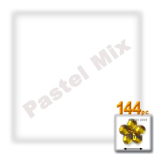 Rhinestones, Flatback, Flower, 15mm, 144-pc, Pastel Assortment
