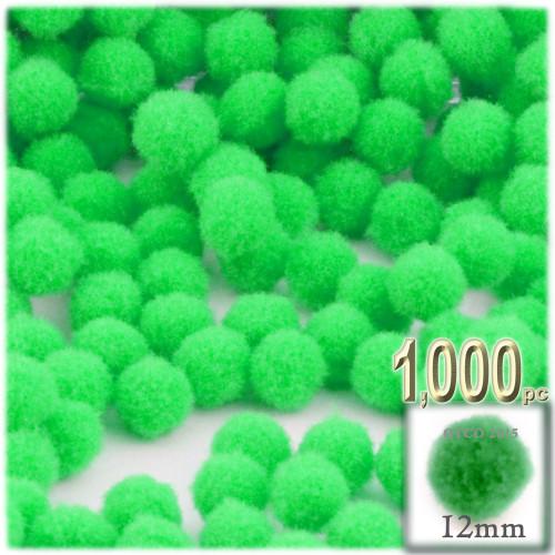 Acrylic Pom Pom, 12mm, 1,000-pc, Lime Green