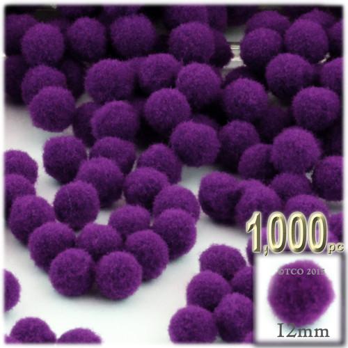 Acrylic Pom Pom, 12mm, 1,000-pc, Purple