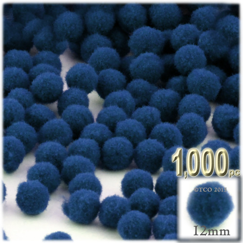 Acrylic Pom Pom, 12mm, 1,000-pc, Royal Blue
