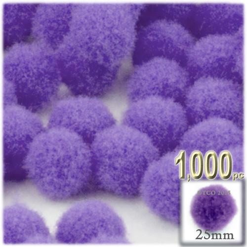 Acrylic Pom Pom, 25mm, 1,000-pc, Light Purple