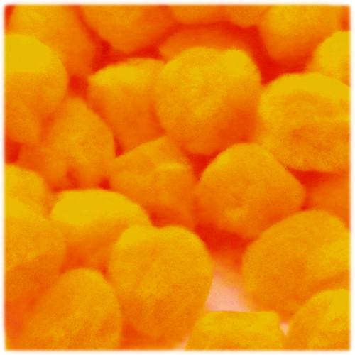 Acrylic Pom Pom, 25mm, 100-pc, Sun Yellow