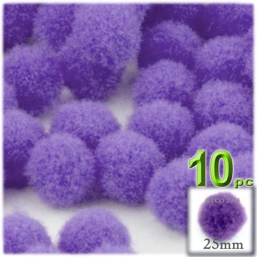 Acrylic Pom Pom, 25mm, 10-pc, Light Purple