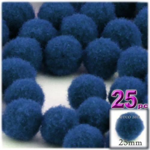 Acrylic Pom Pom, 25mm, 25-pc, Royal Blue