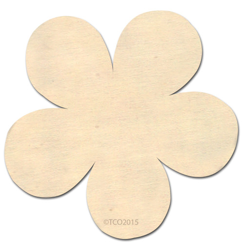 Wooden Shape, 4-in, (Flower) Shape, Flower Symbol