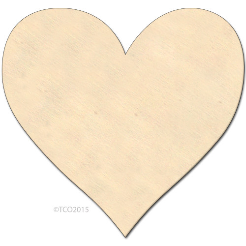 Wooden Shape, 4-in, (Heart) Shape Heart Symbol