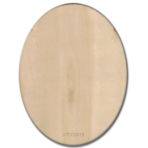 Wooden Shape, 4-in, (Oval) Shape