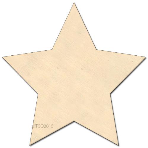 Wooden Shape, 4-in, (Star) Shape Star