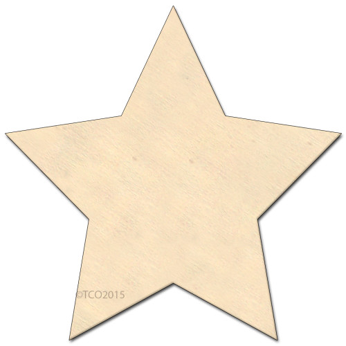 Wooden Shape, 4-in, (Star) Shape Star