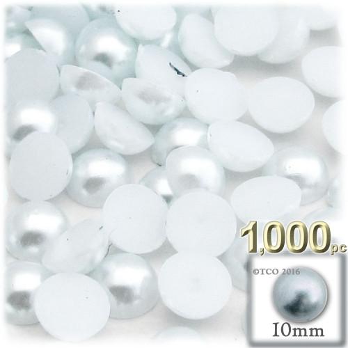Half Dome Pearl, Plastic beads, 10mm, 1,000-pc, Irish Blue Pearl
