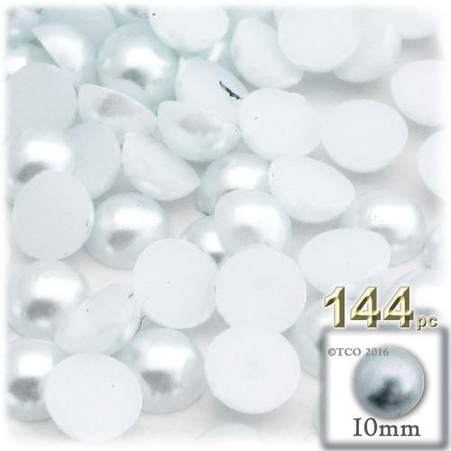 Half Dome Pearl, Plastic beads, 10mm, 144-pc, Irish Blue Pearl