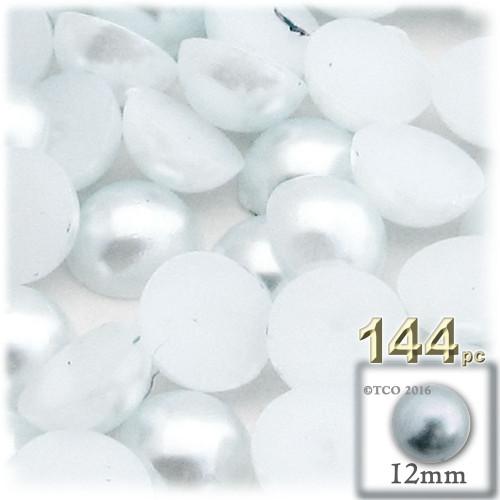 Half Dome Pearl, Plastic beads, 12mm, 144-pc, Irish Blue Pearl