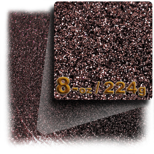Glitter powder, 8-OZ/224-g, Fine 0.008in, Coffee Brown