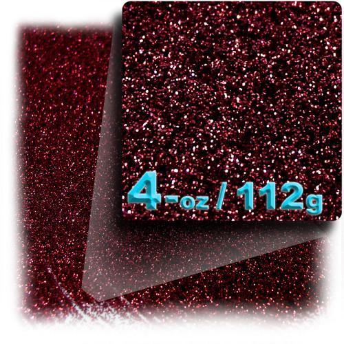 Glitter powder, 4-OZ/112-g, Fine 0.008in, Devil Red
