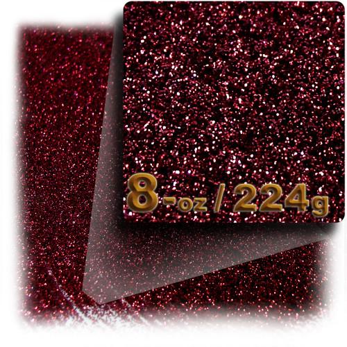 Glitter powder, 8-OZ/224-g, Fine 0.008in, Devil Red