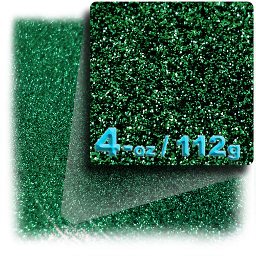 Glitter powder, 4-OZ/112-g, Fine 0.008in, Emerald Green