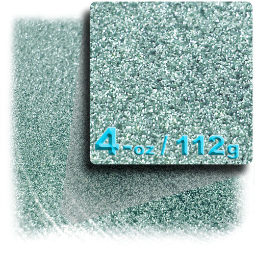 Glitter powder, 4-OZ/112-g, Fine 0.008in, Jade Blue