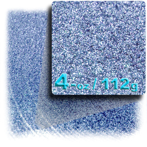 Glitter powder, 4-OZ/112-g, Fine 0.008in, Light Blue
