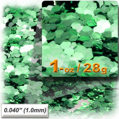 Glitter powder, 1oz/28g, Fine 0.040in, Light Green