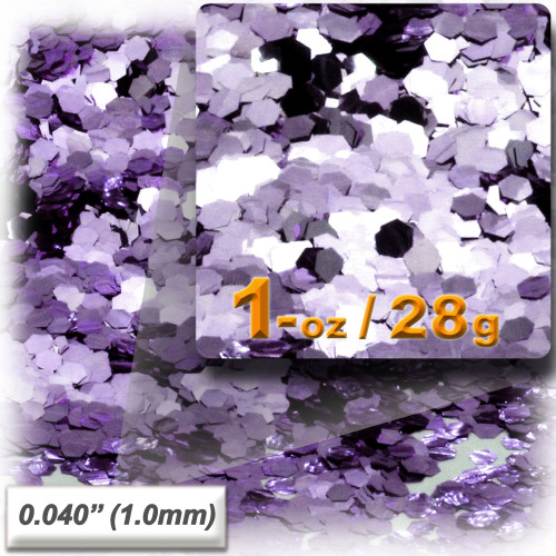 Glitter powder, 1oz/28g, Fine 0.040in, Light Purple