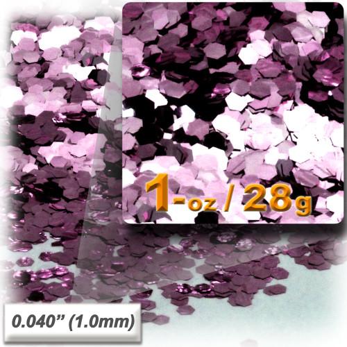 Glitter powder, 1oz/28g, Fine 0.040in, Pink