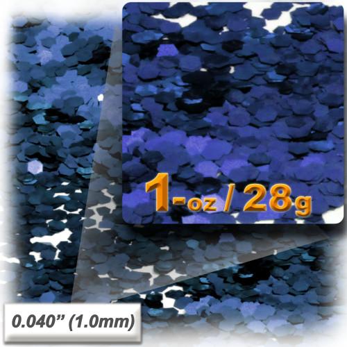 Glitter powder, 1oz/28g, Fine 0.040in, Royal Blue