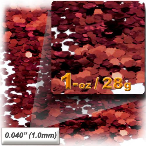 Glitter powder, 1oz/28g, Fine 0.040in, Rich Red