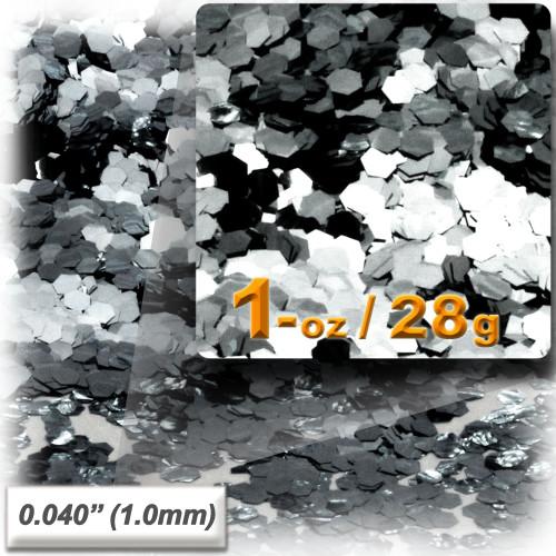 Glitter powder, 1oz/28g, Fine 0.040in, Silver