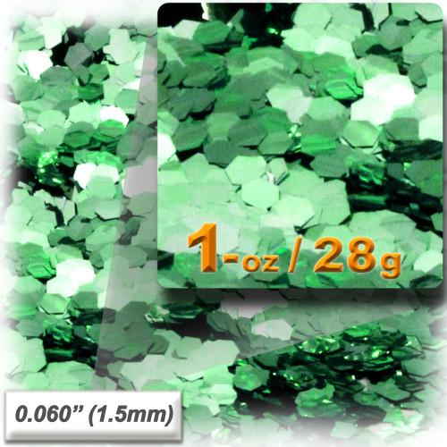 Glitter powder, 1oz/28g, Fine 0.060in, Light Green