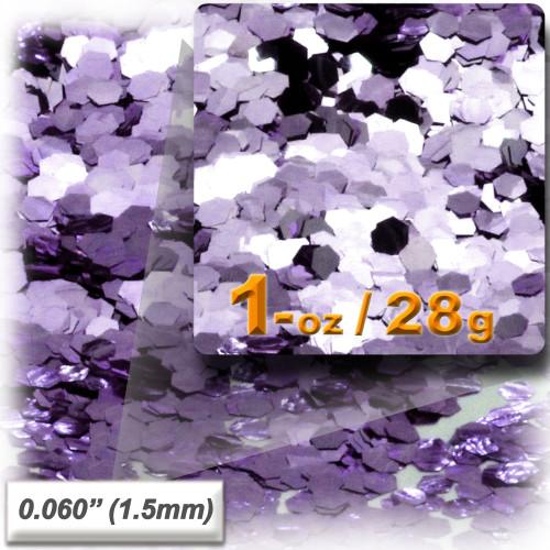 Glitter powder, 1oz/28g, Fine 0.060in, Light Purple