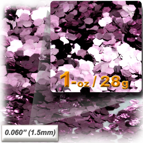 Glitter powder, 1oz/28g, Fine 0.060in, Pink