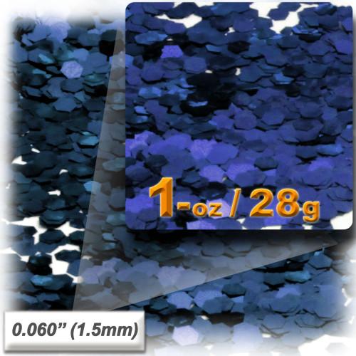 Glitter powder, 1oz/28g, Fine 0.060in, Royal Blue