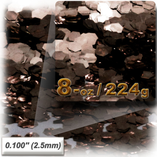 Glitter powder, 1oz/28g, Sequins Glitter 0.100in, Coffee Brown