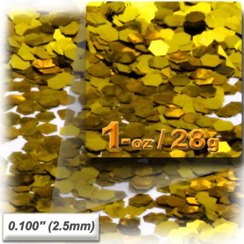 Glitter powder, 1oz/28g, Sequins Glitter 0.100in, Gold
