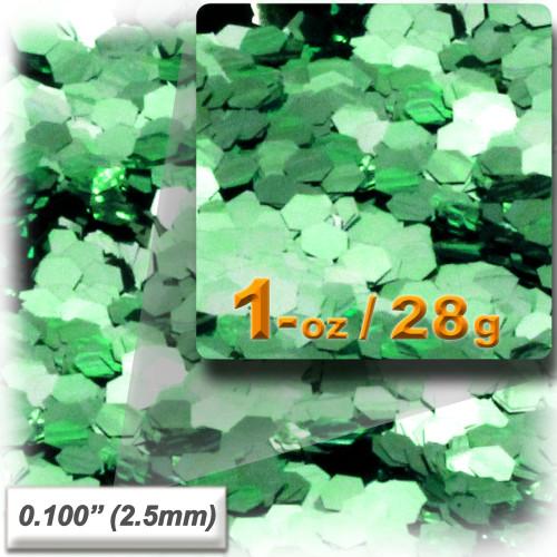 Glitter powder, 1oz/28g, Sequins Glitter 0.100in, Light Green