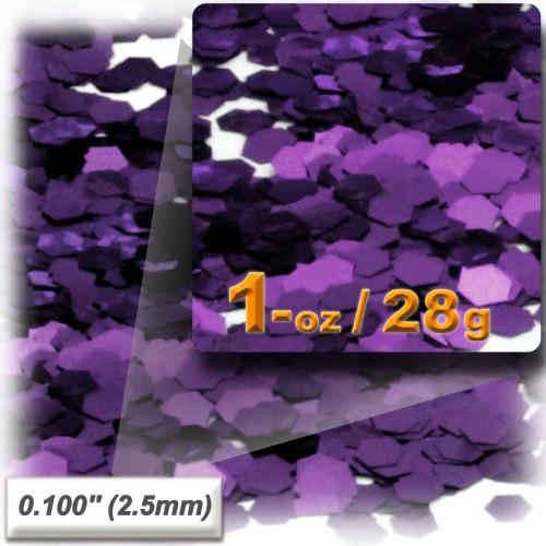 Glitter powder, 1oz/28g, Sequins Glitter 0.100in, Purple