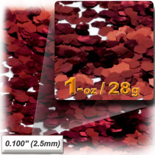 Glitter powder, 1oz/28g, Sequins Glitter 0.100in, Rich Red