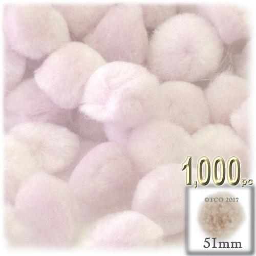Acrylic Pom Pom, 51mm, 1,000-pc, Cream