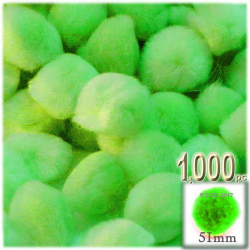 Acrylic Pom Pom, 51mm, 1,000-pc, Neon Green