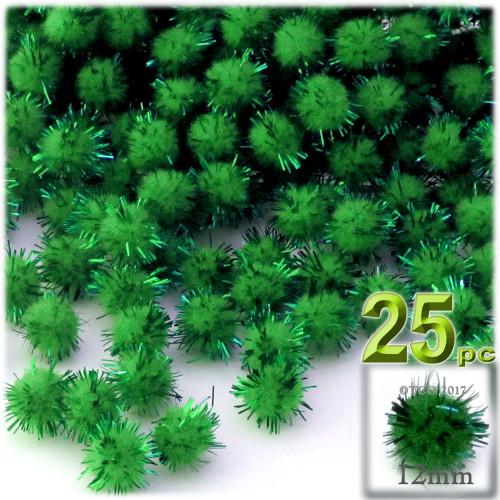Pom Pom, 12mm, 25-pc, Emerald Green
