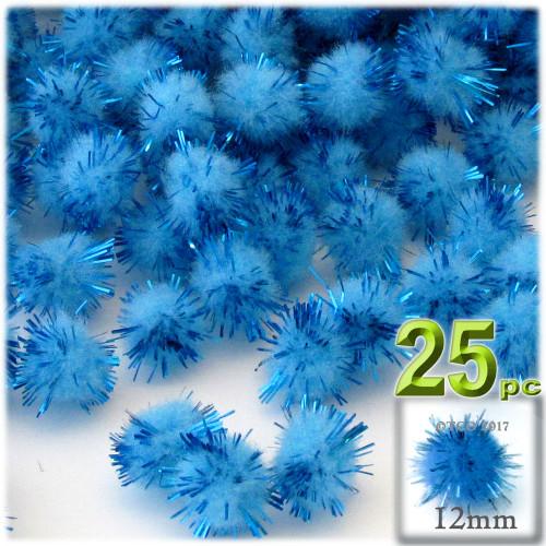 Pom Pom, 12mm, 25-pc, Light Blue