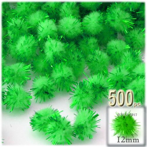 Pom Pom, 12mm, 500-pc, Light Green