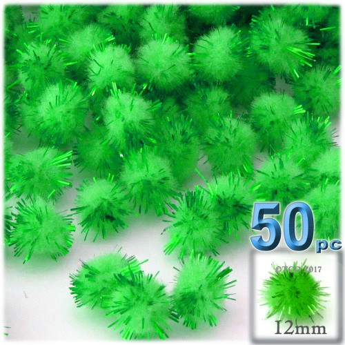 Pom Pom, 12mm, 50-pc, Light Green