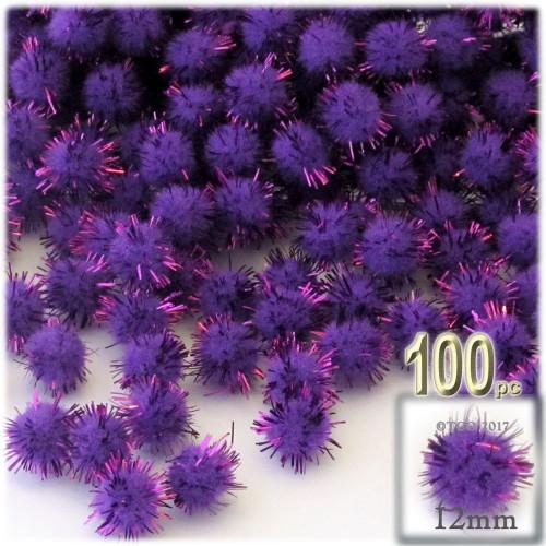 Pom Pom, 12mm, 100-pc, Purple
