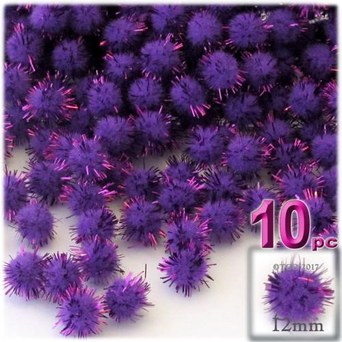 Pom Pom, 12mm, 10-pc, Purple