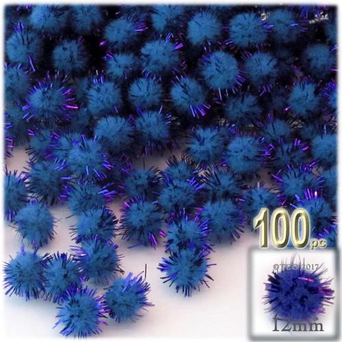 Pom Pom, 12mm, 100-pc, Royal Blue