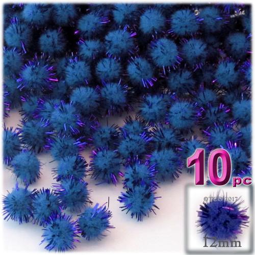 Pom Pom, 12mm, 10-pc, Royal Blue