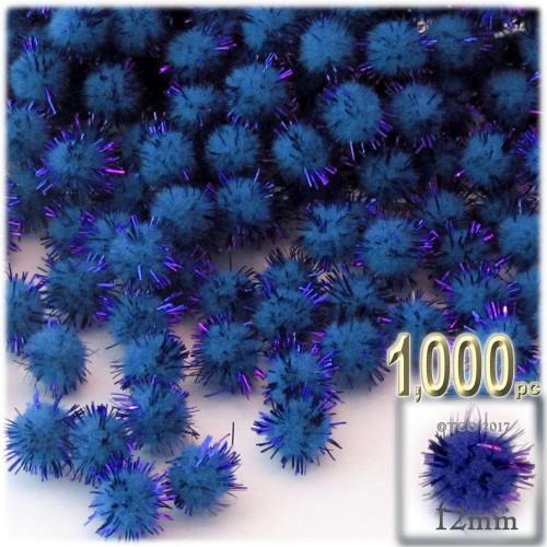 Pom Pom, 12mm, 1,000-pc, Royal Blue