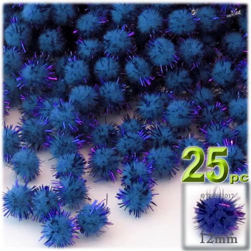 Pom Pom, 12mm, 25-pc, Royal Blue